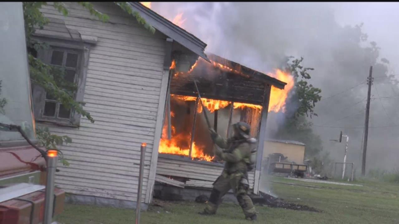Tulsa Fire Crews Knock Down House Fire
