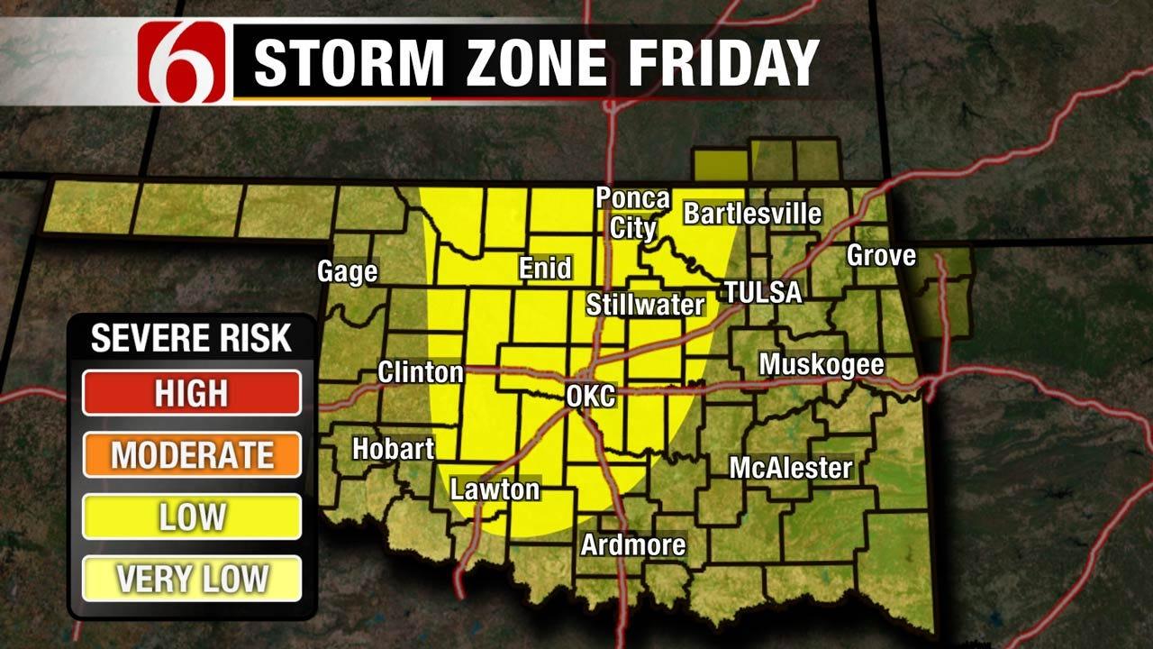Eastern Oklahoma Storm Chances Remain High