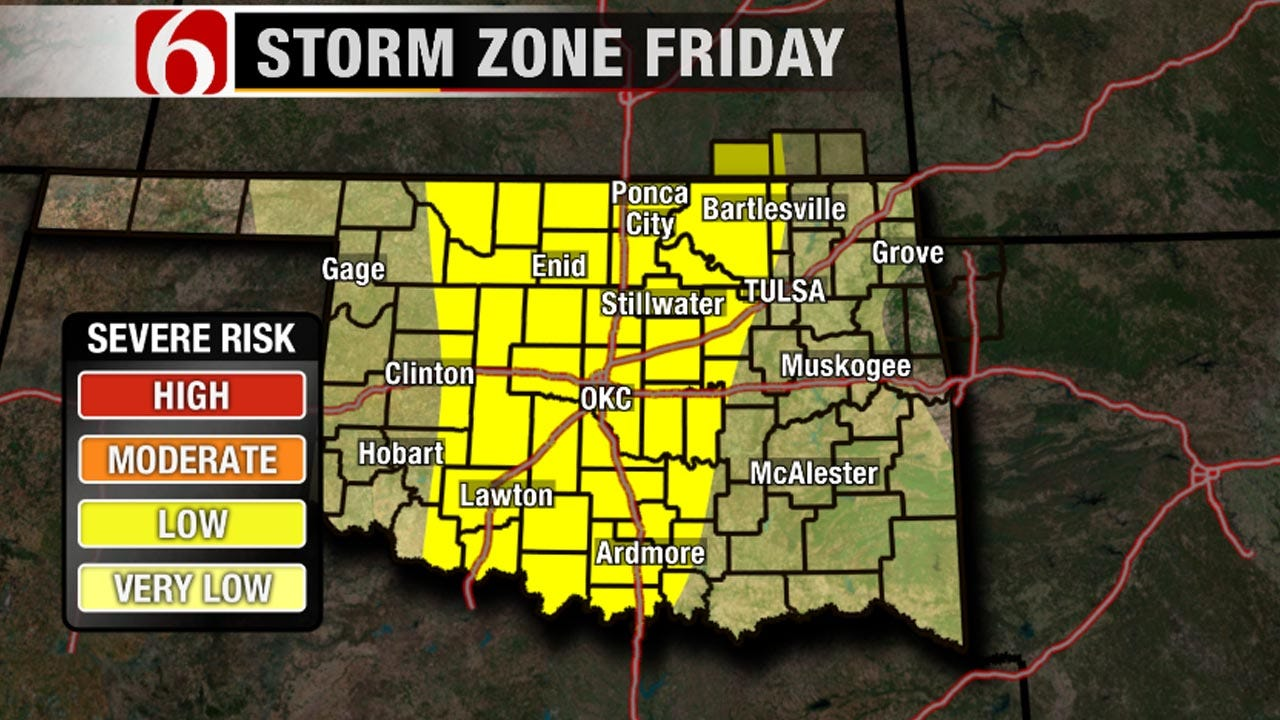 Storms Could Develop Across Green Country