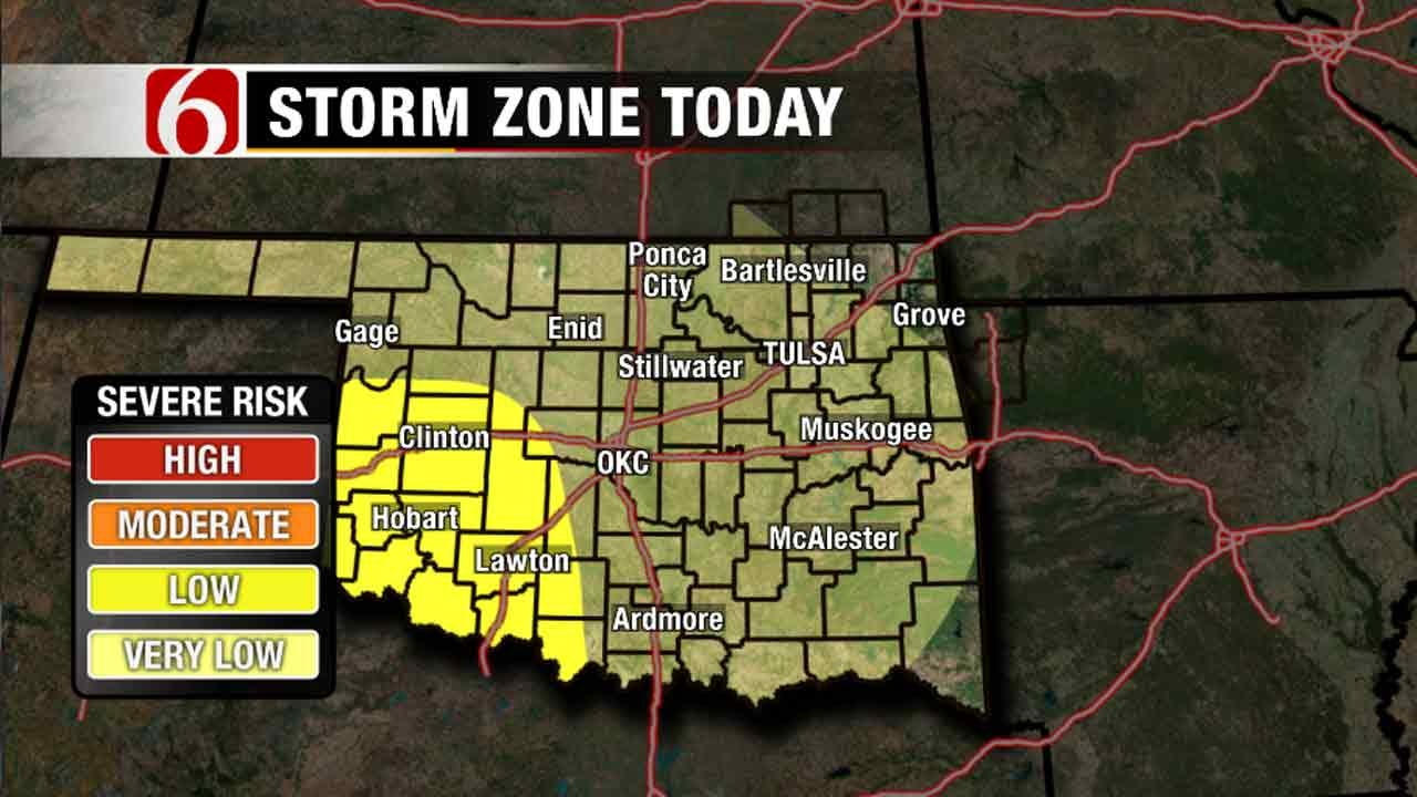 Chance Of Storms Moving Into Green Country For Memorial Day