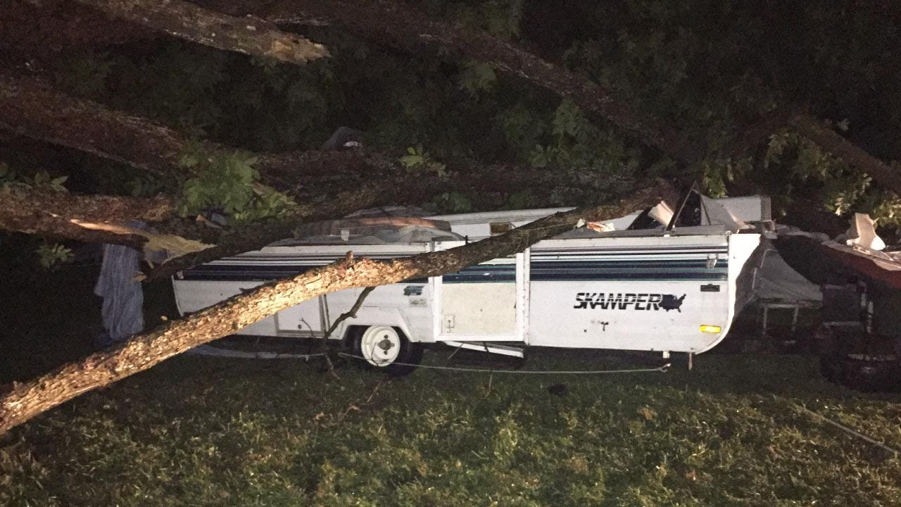 Tree Falls On Tent Full Of Campers Near Tahlequah