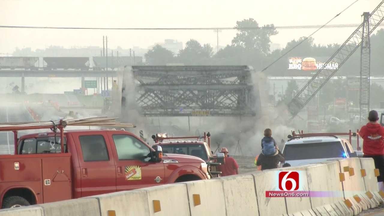 WATCH: Crews Demolish Remaining Bird Creek Bridge