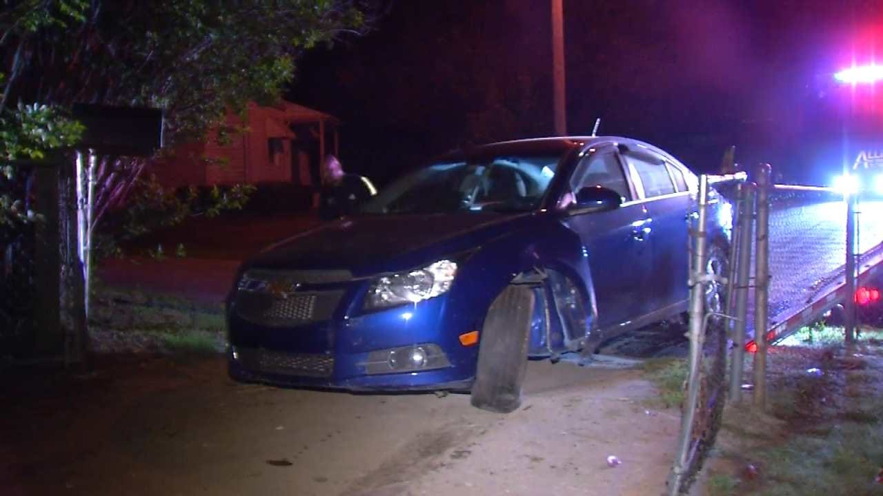 Driver Arrested For DUI After Tulsa Chase, Crash