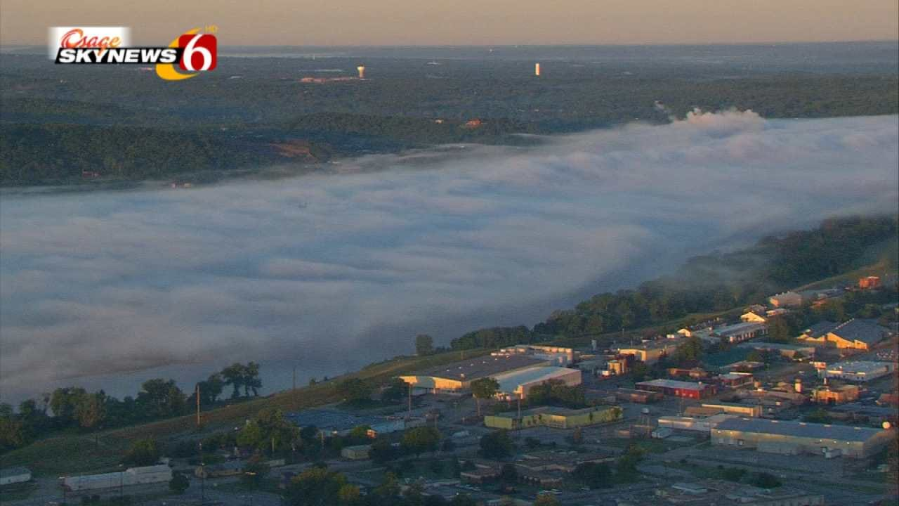 View Of Tuesday Morning's Fog From Osage SkyNews 6 HD