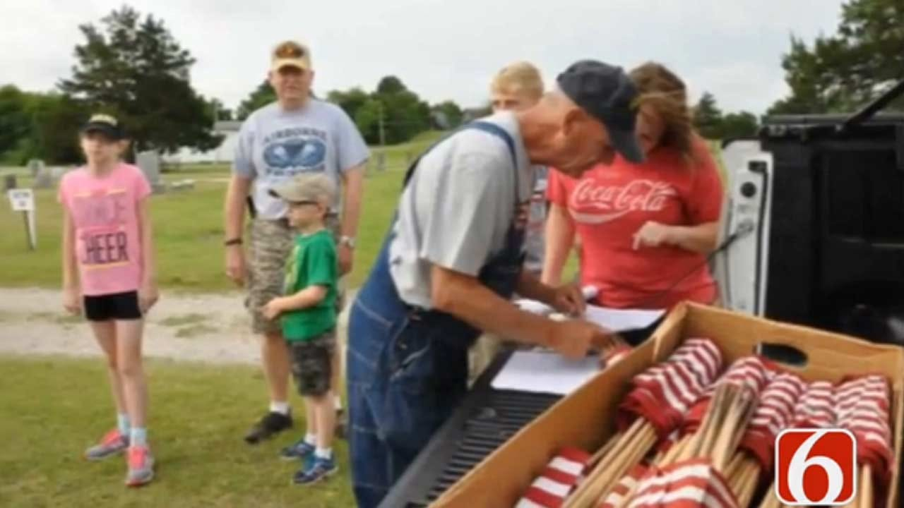 Hominy 'Flag Man' Rallies Community To Remember Fallen Heroes