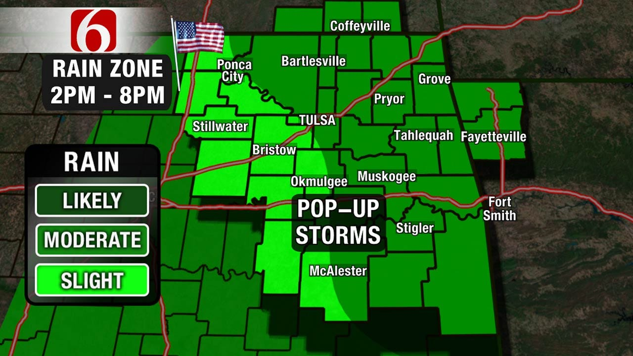 Pop-Up Thunderstorms Still A Threat For Eastern Oklahoma