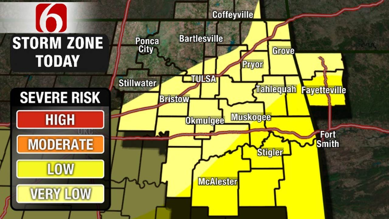 More Thunderstorms Possible In Eastern Oklahoma