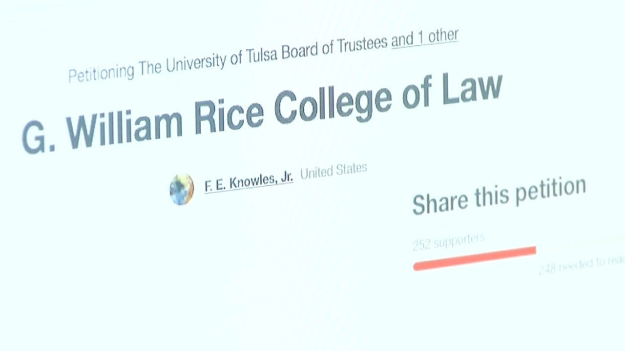 Law Students, Alumni Start Petition To Replace Name On TU Building