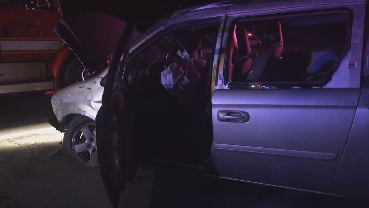 Police: TU Student Falls Asleep, Crashes Minivan