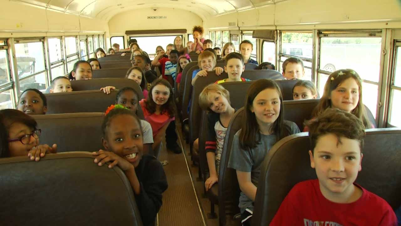 Jenks Fourth Graders Among First To See Inside 'Gathering Place'