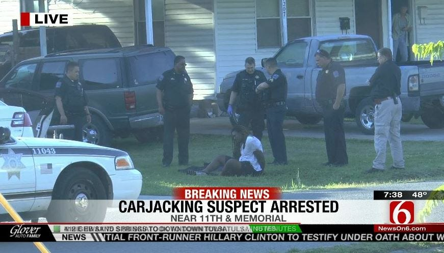 Tulsa Police Catch Suspect In Morning Crime Spree