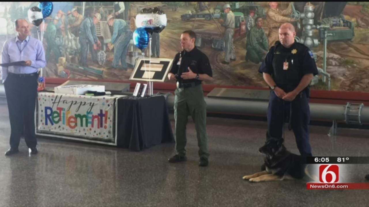 Tulsa Int'l Airport's Explosives Detection Dog Retires From Service