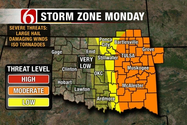 More Severe Weather to Start the Week