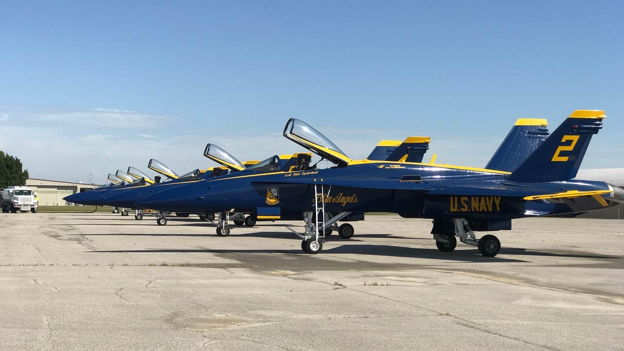 Blue Angels Make Unannounced Pit Stop In Tulsa