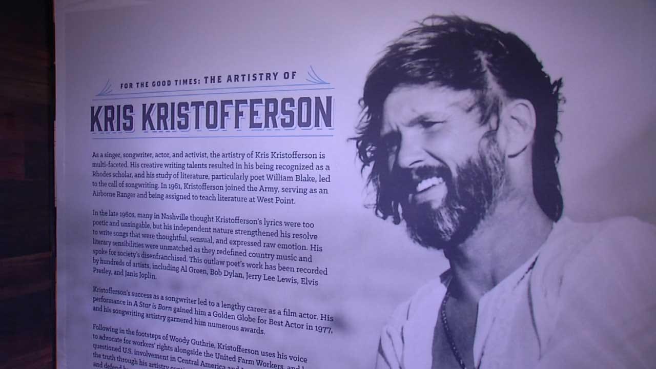 Kris Kristofferson Exhibit Opening At Woody Guthrie Center
