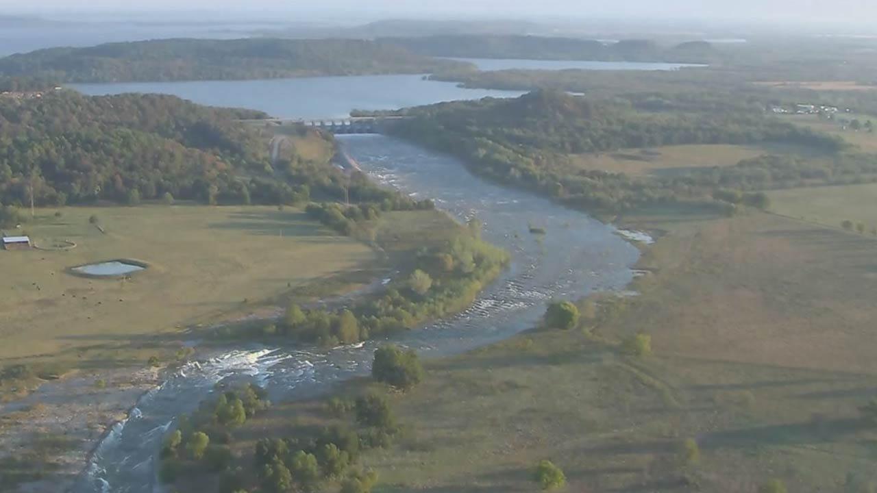 Spillway Gates Open At Lake Oologah