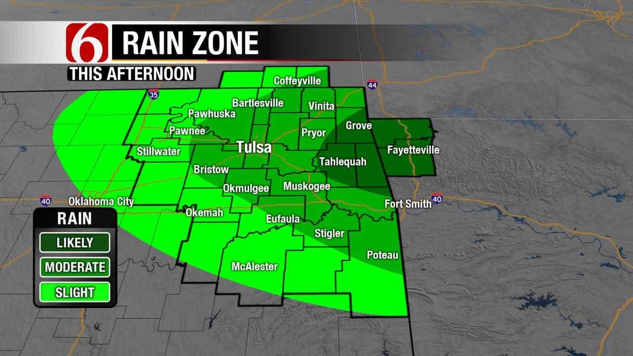 Cold Front, Rain Push Across Eastern Oklahoma
