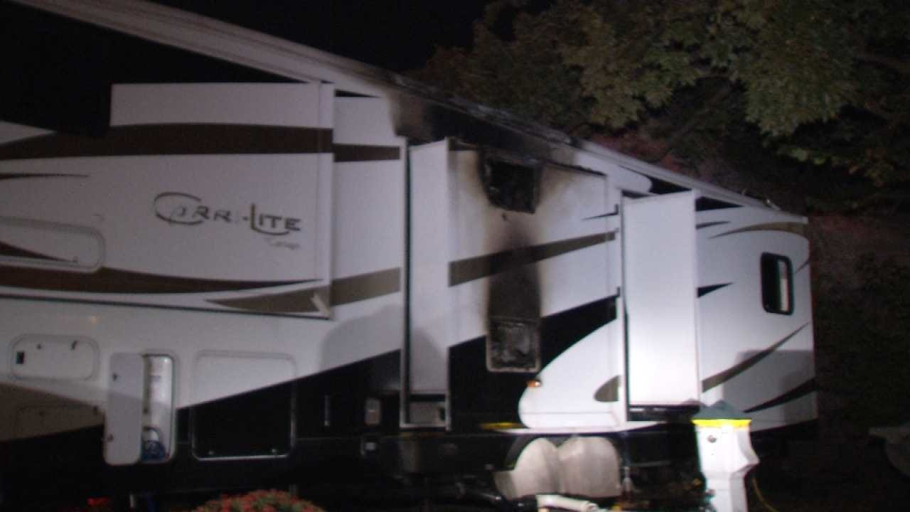 Electrical Problem To Blame For Sand Springs RV Trailer Fire
