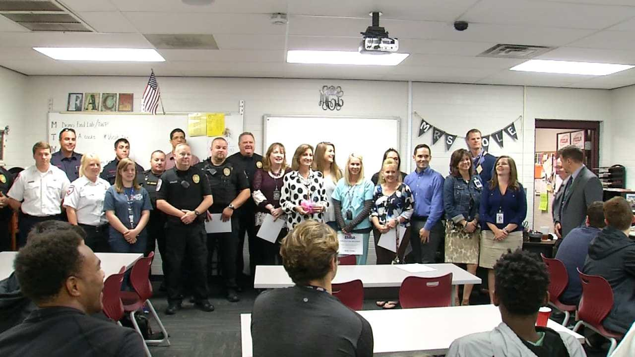 Jenks High School Teacher Honored With EMSA's 'Everyday Hero Award'