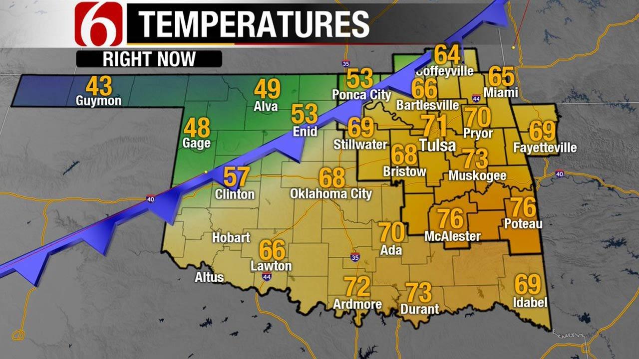Strong Cold Front Brings Rain, Cooler Air To Oklahoma