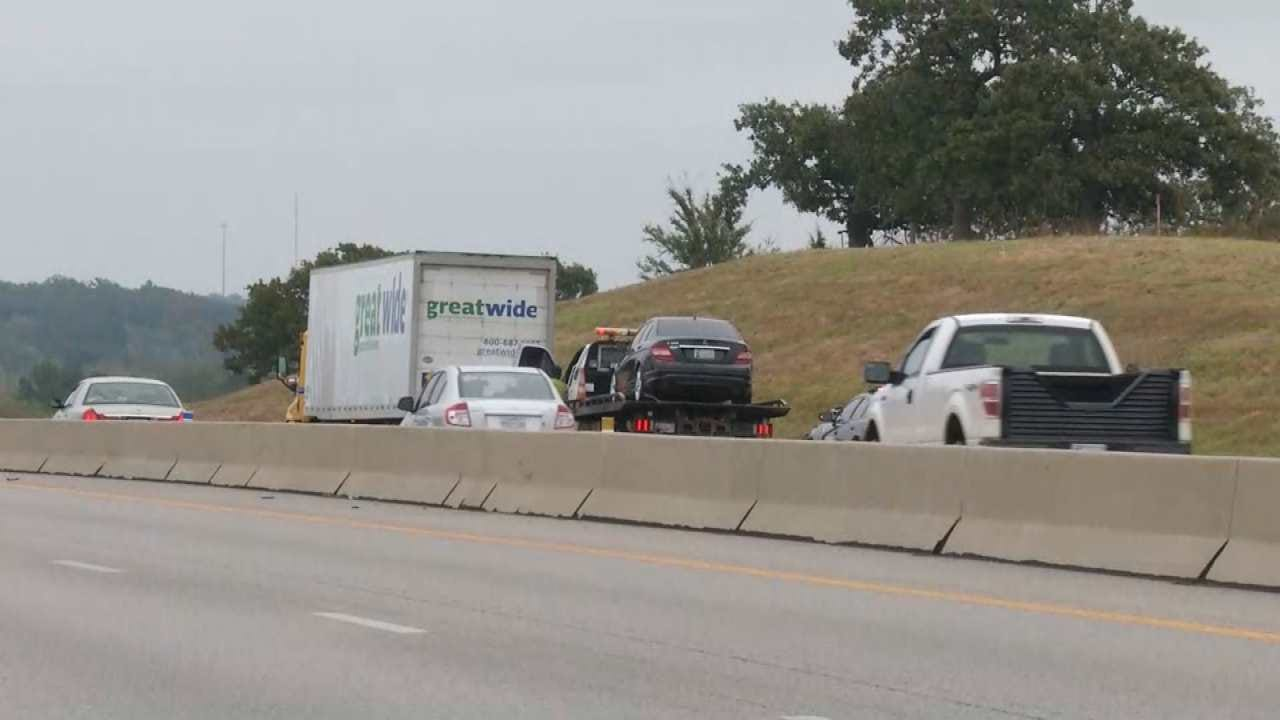 OHP: Semi-Crash Crash On Turner Turnpike West Of Sapulpa