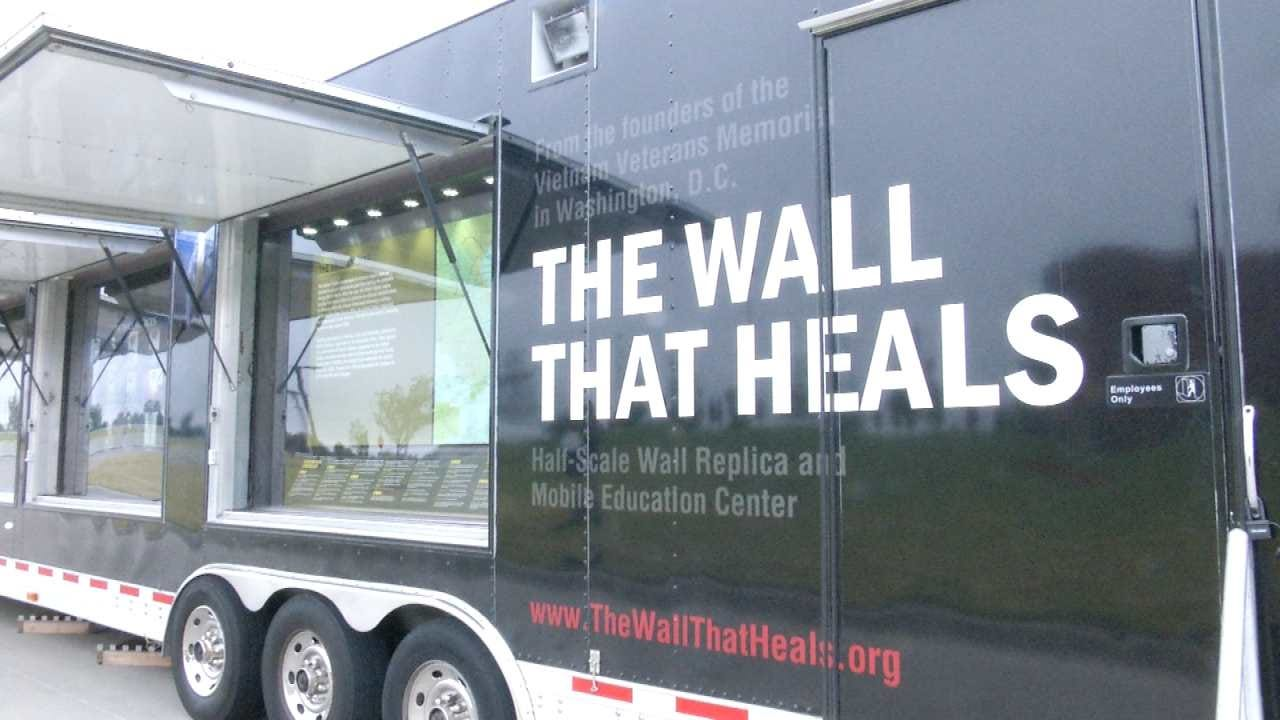 Owasso Woman Talks About Father's Name On 'Wall That Heals'