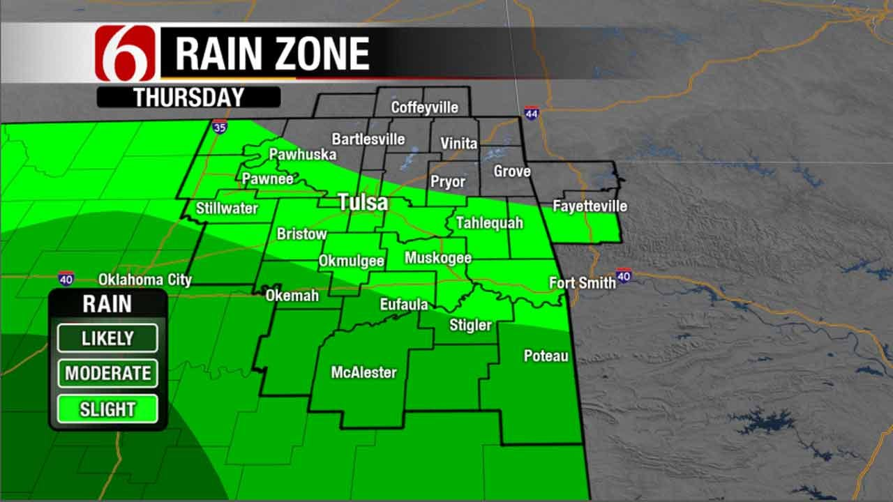 Scattered Showers Moving Through Oklahoma
