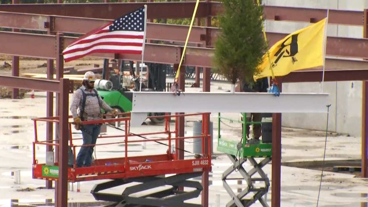 BA District Holds Topping Out Ceremony For New School