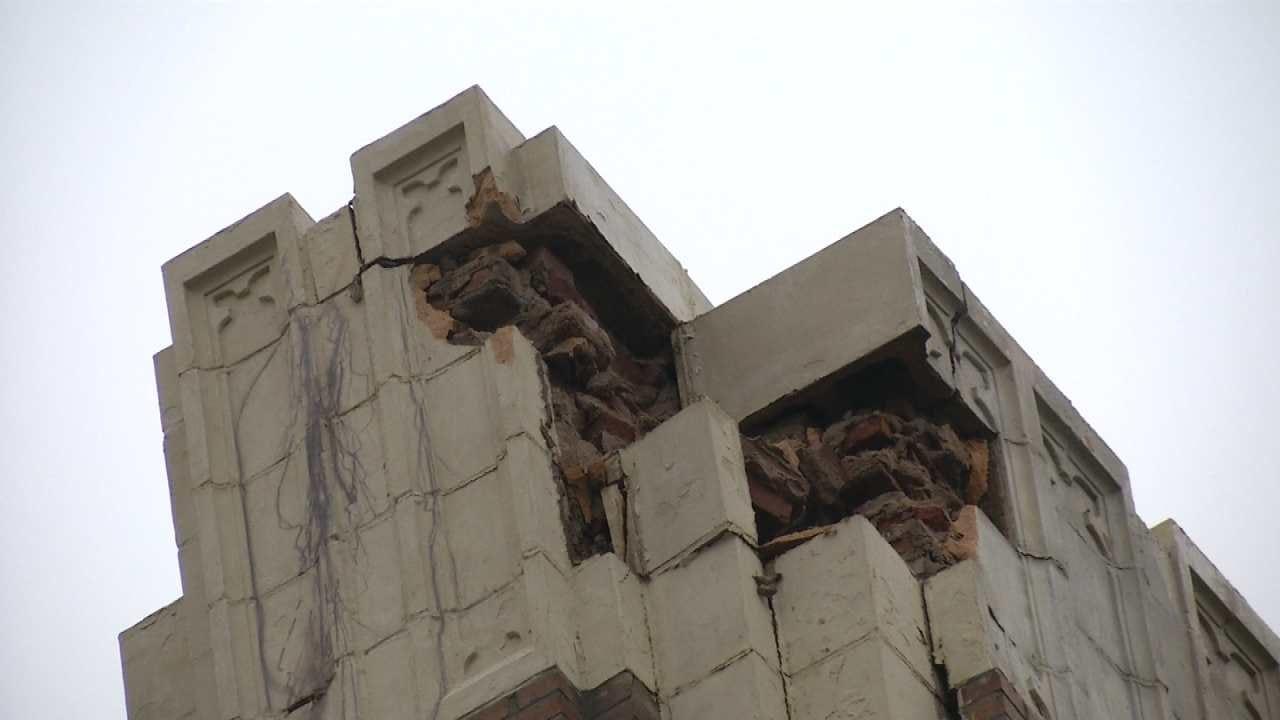 Lightning Strike Damages Downtown Tulsa Church