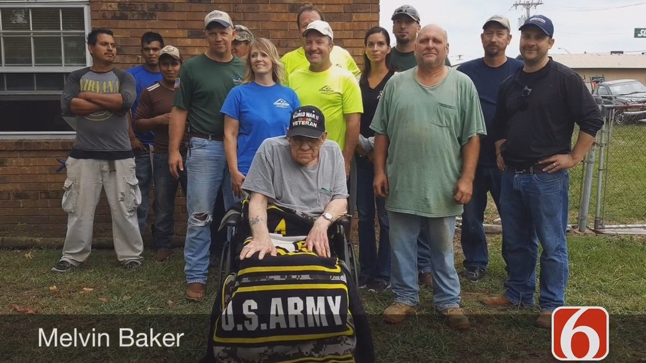 Volunteers Repair Roof For Disabled Wagoner Veteran