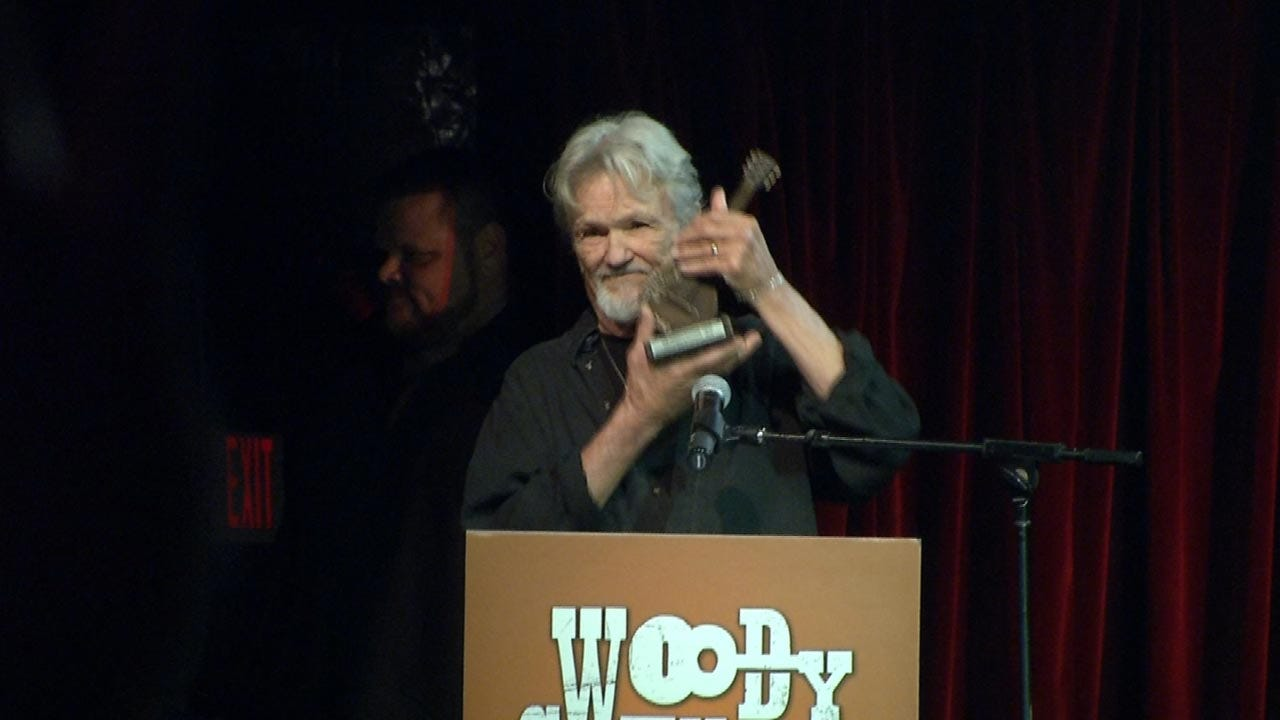 Kris Kristofferson Honored With Woody Guthrie Prize At Cain's Ballroom