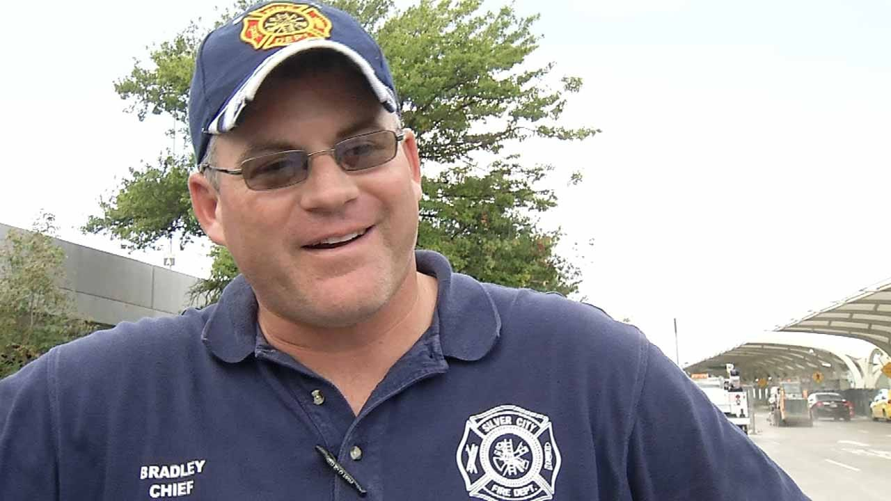 Firefighter Injured During Hurricane Relief Returns To Oklahoma