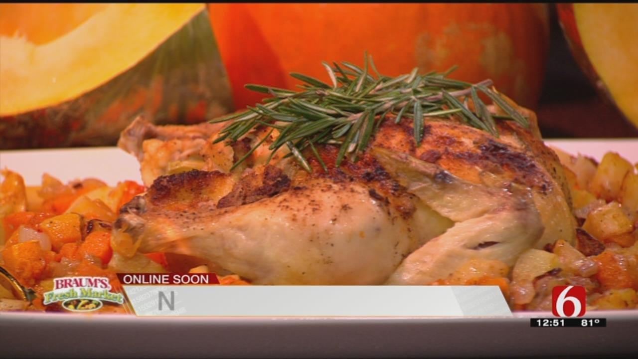 Roasted Pumpkin & Veggies - Pumpkin, Pine Nut & Bacon Penne