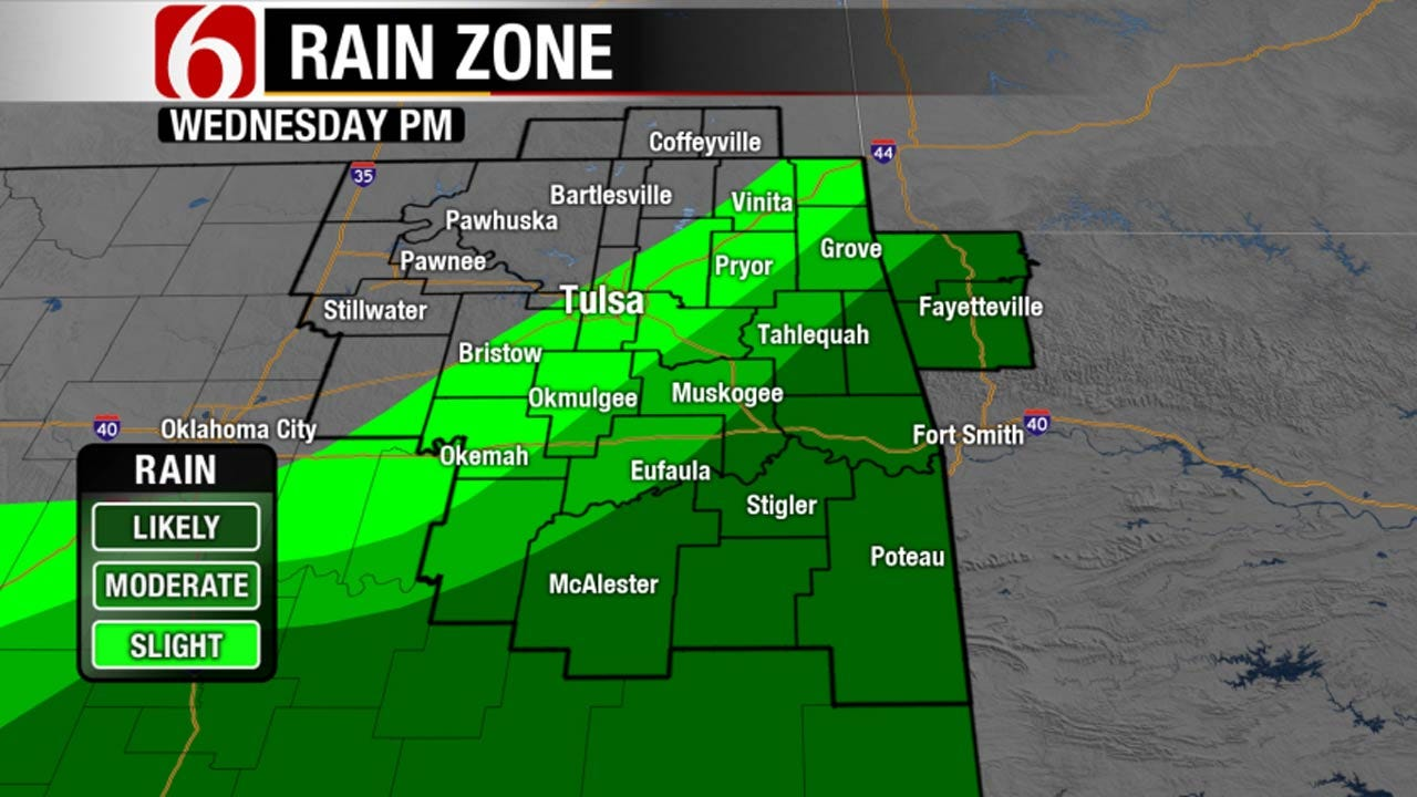 Stalled Front May Trigger Showers, Storms Southeast Of Tulsa