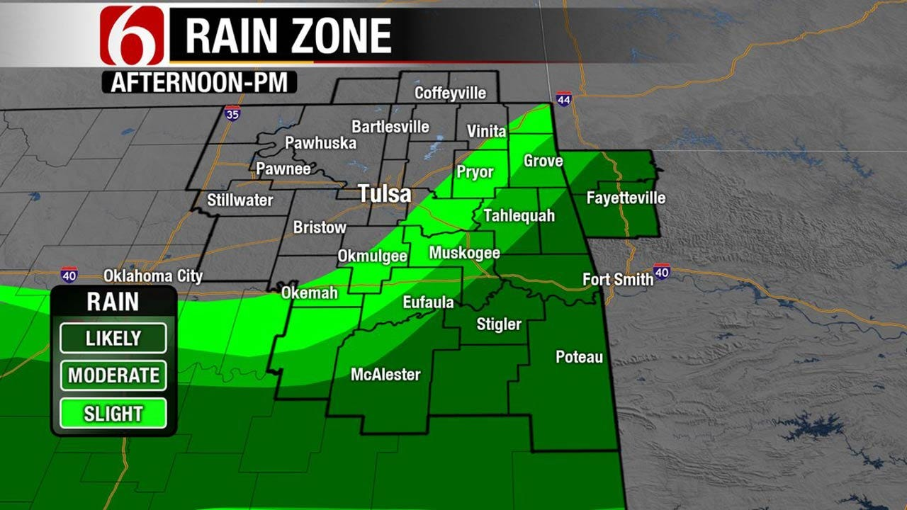 Storms In SE Oklahoma As Cooler Temps Return