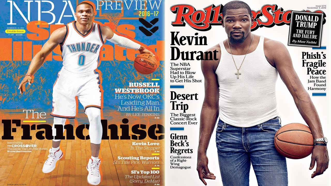 Westbrook, Durant Transparent When Discussing Each Other In Sports Illustrated, Rolling Stone