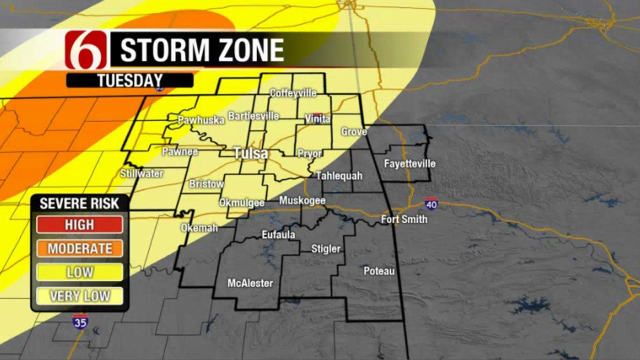 Rain, Severe Weather Possible In Northeast Oklahoma This Week