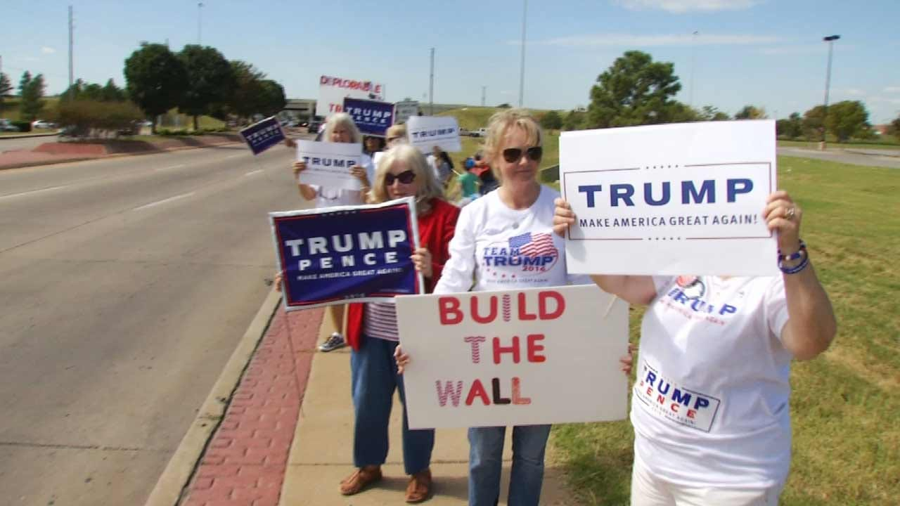 Trump Supporters Hold First Flag Waving Event