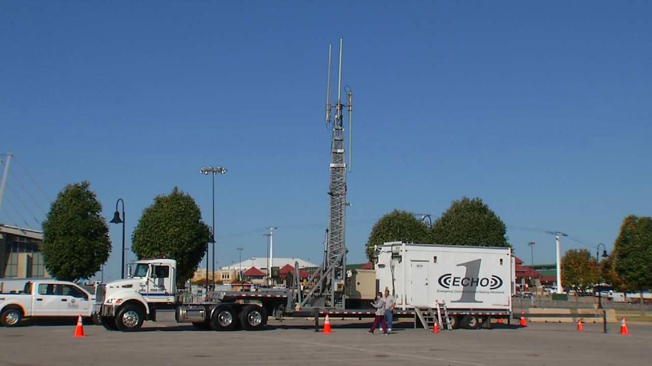 Emergency Responders Test Communication Equipment At Tulsa Fairgrounds