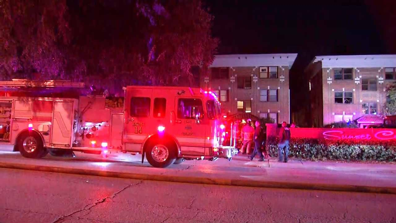 Fire Displaces Several Residents At Tulsa Apartment Complex