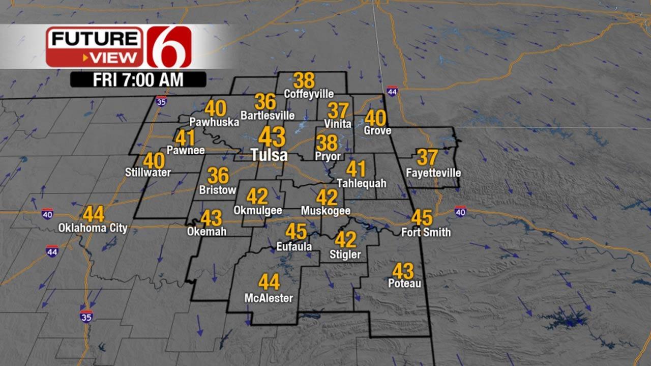 Sunny, Cooler Across Northeast Oklahoma