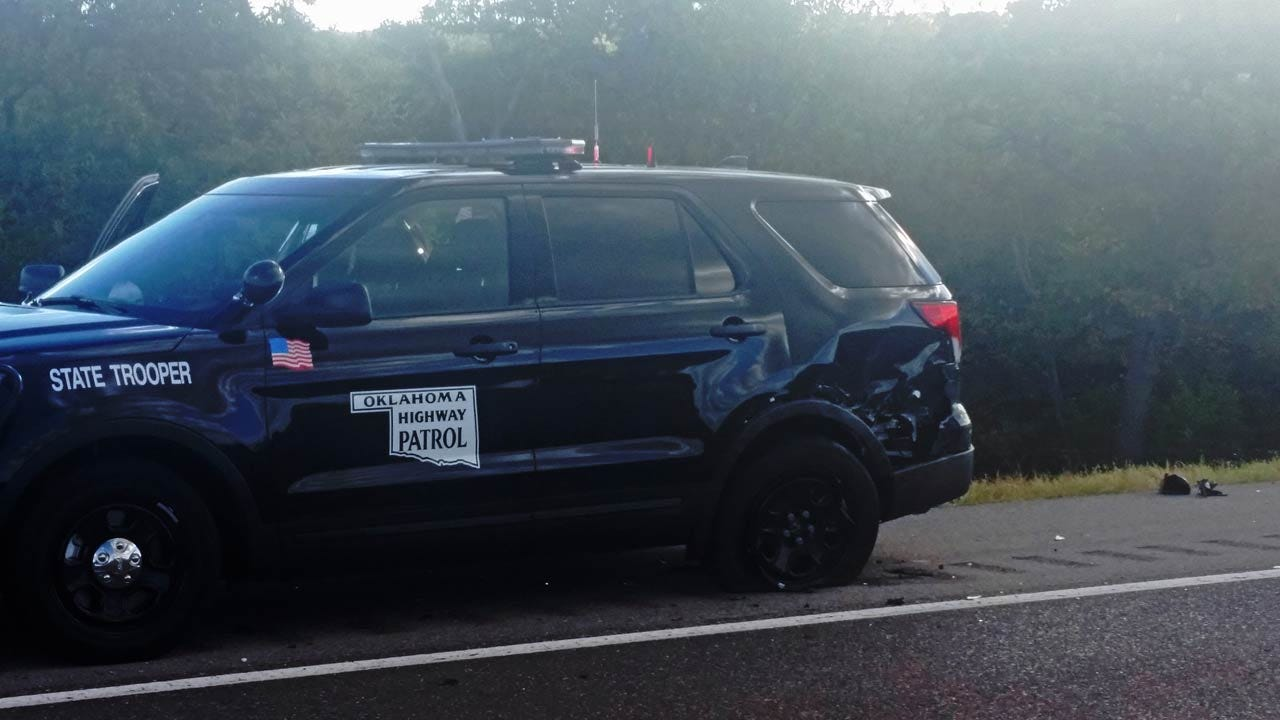 OHP Trooper Injured When Car Hits His Patrol Unit On Turner Turnpike