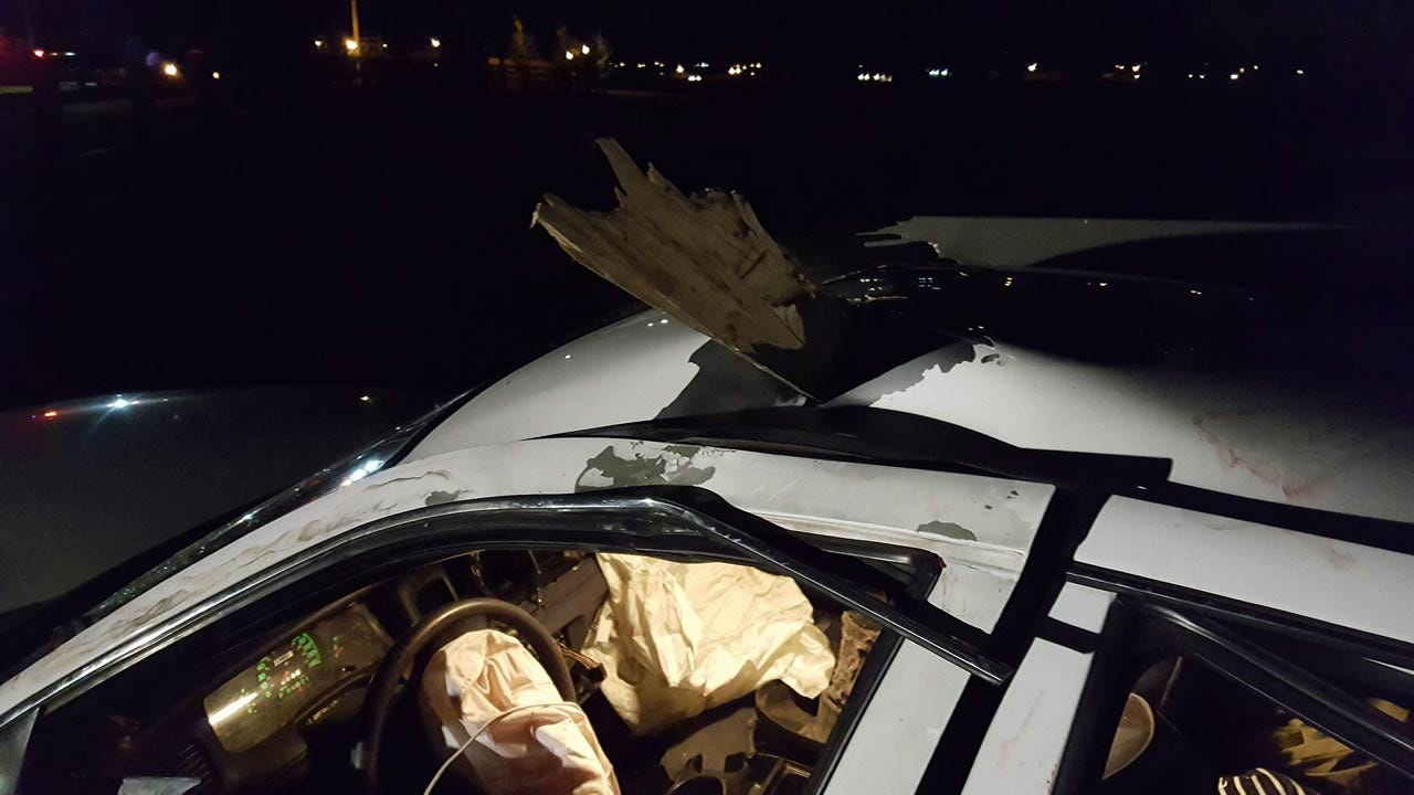 Driver Impaled By Fence In Tulsa Crash