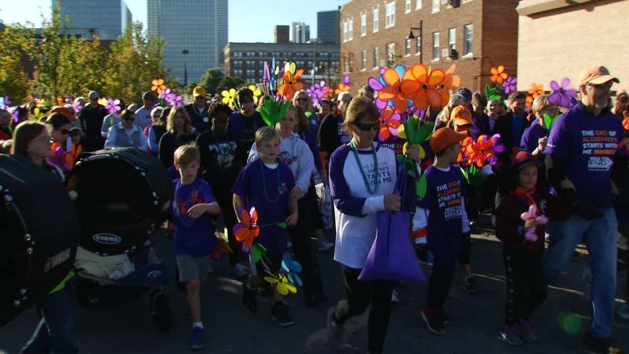 Several Thousand Take Part In Tulsa 'Walk To End Alzheimer's'