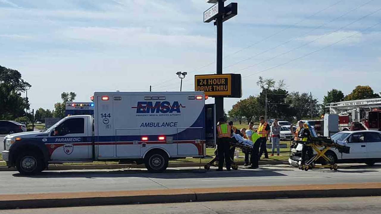 Woman Crashes Into Tulsa Ambulance Transporting Patient