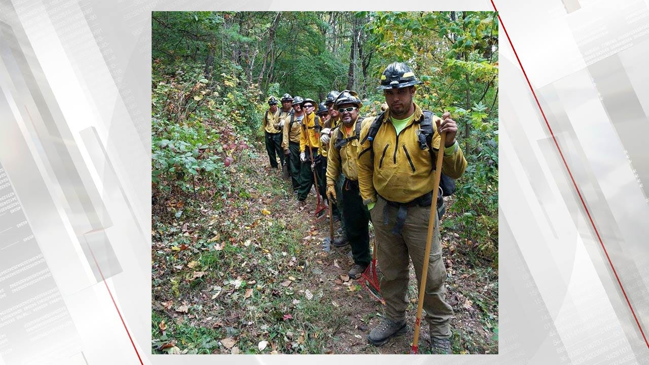 Oklahoma Wildland Firefighters Return Home After Fighting Georgia Wildfires