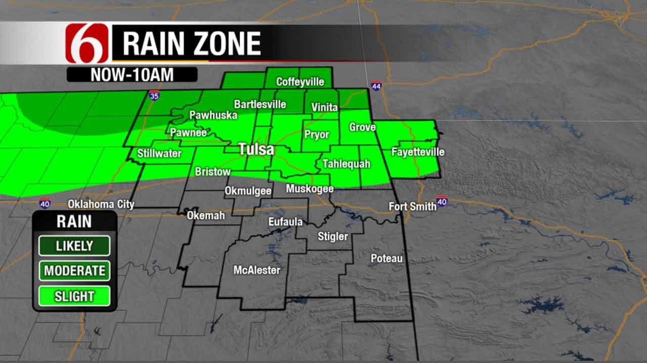 Rain Moves Across Northeastern Oklahoma
