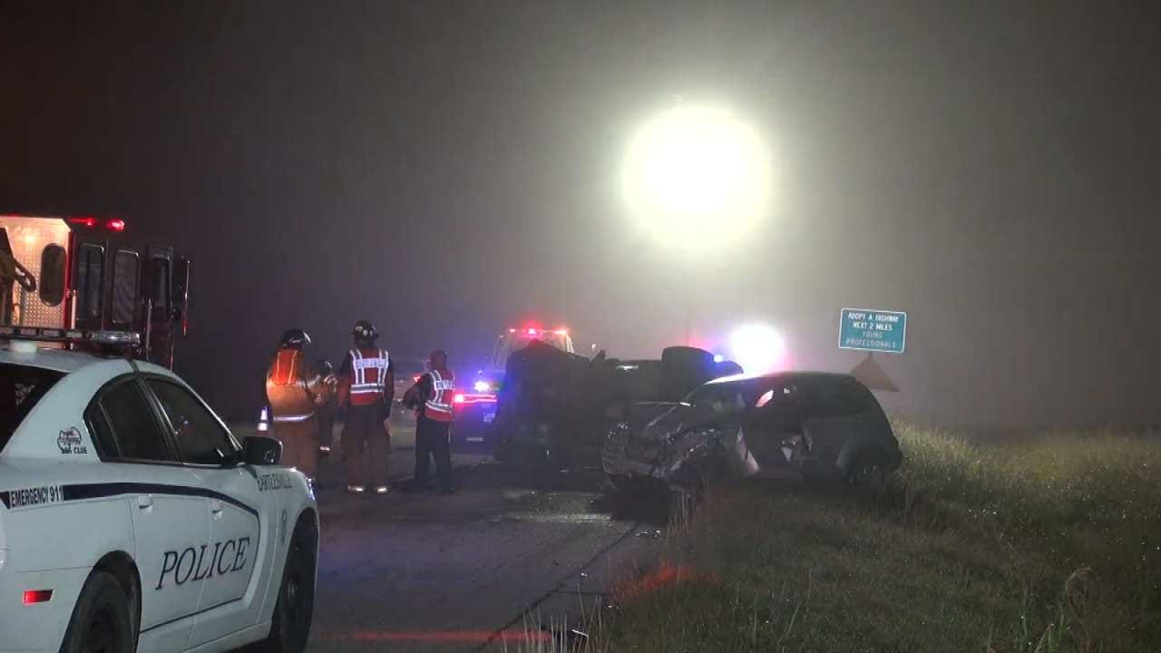 Cattle, Foggy Highway Lead To Three-Vehicle Crash Near Bartlesville
