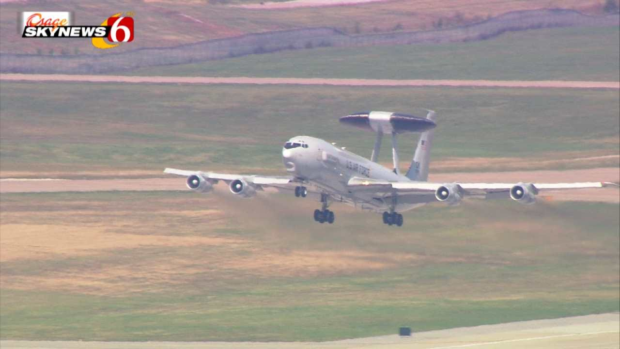 WATCH: US Air Force Jet's Visit To Tulsa Captured By Osage SkyNews 6