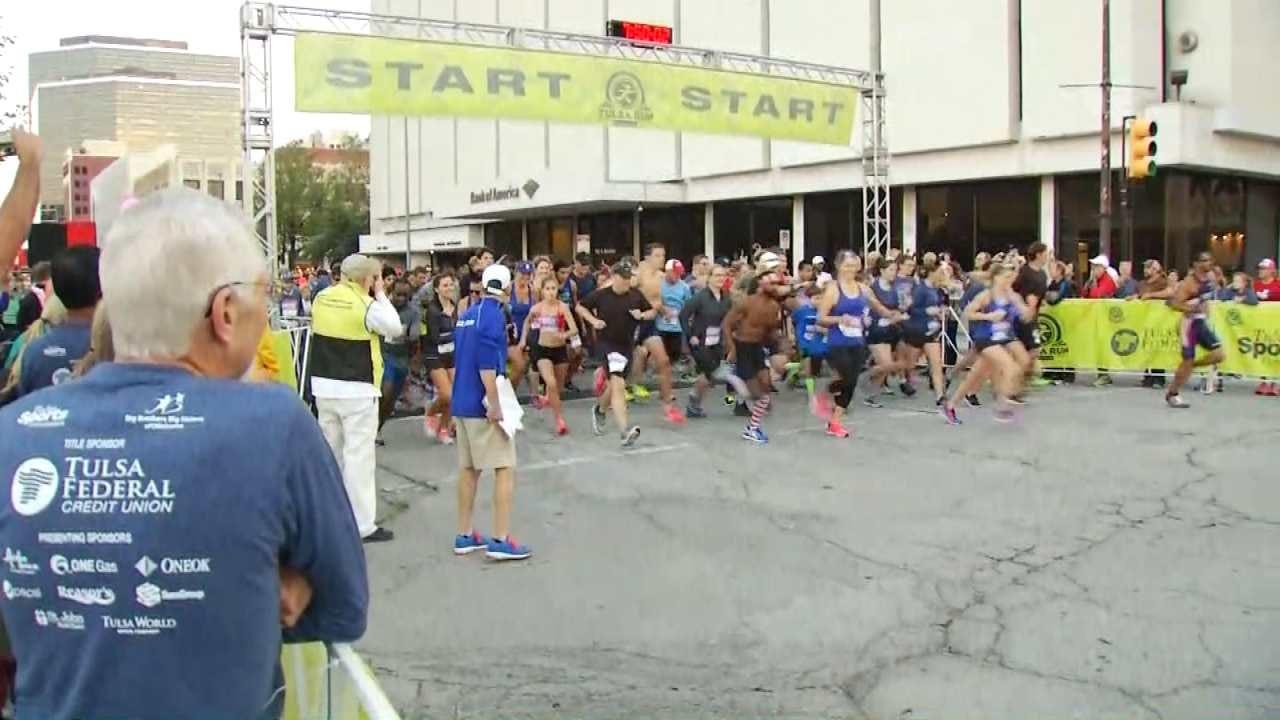 Thousands Take Part In Tulsa Federal Credit Union Tulsa Run